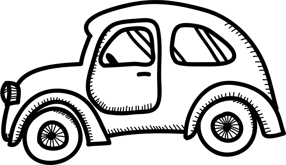 Rounded old model svg. Engine clipart draw car