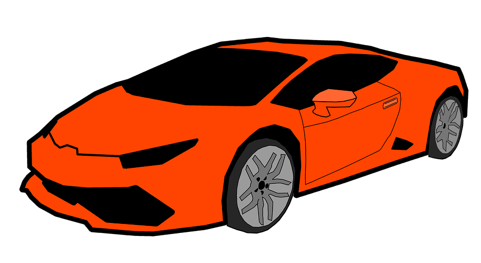 Clipart car orange. Illustrations shop of library
