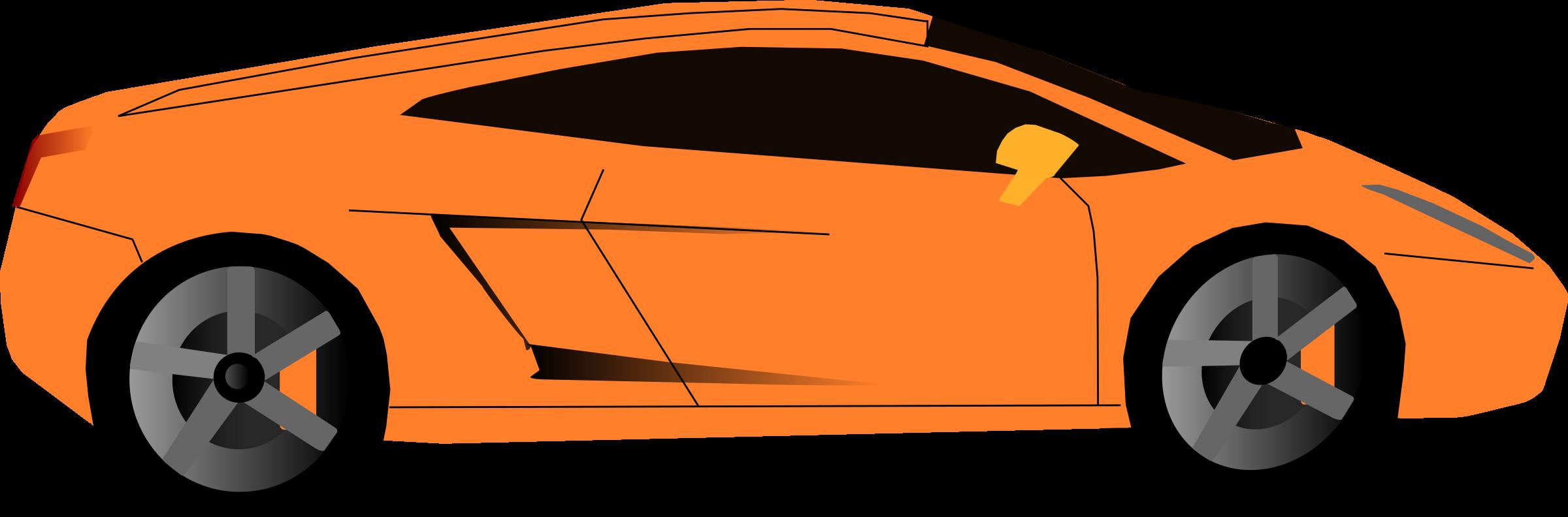 Big image png. Clipart car orange