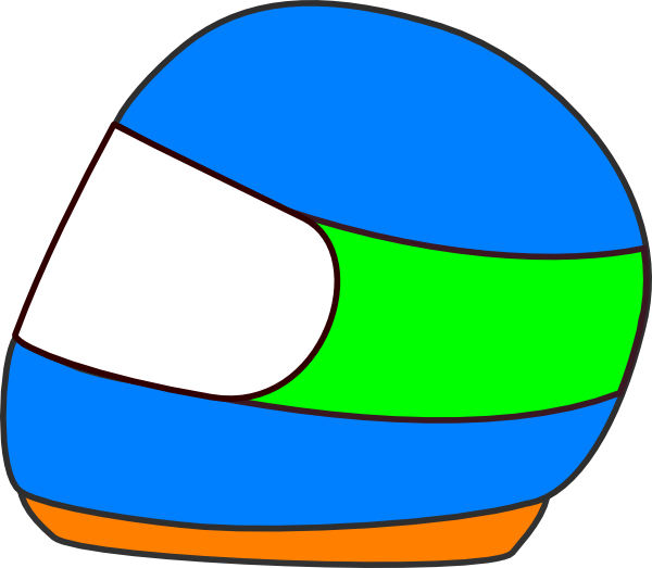 Racing car helmet clip. Driver clipart racer