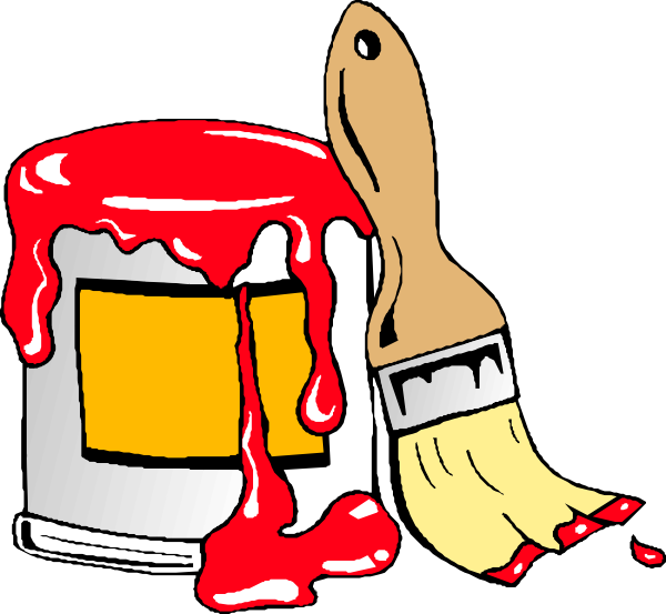 Clip art at clker. Painter clipart red paint bucket