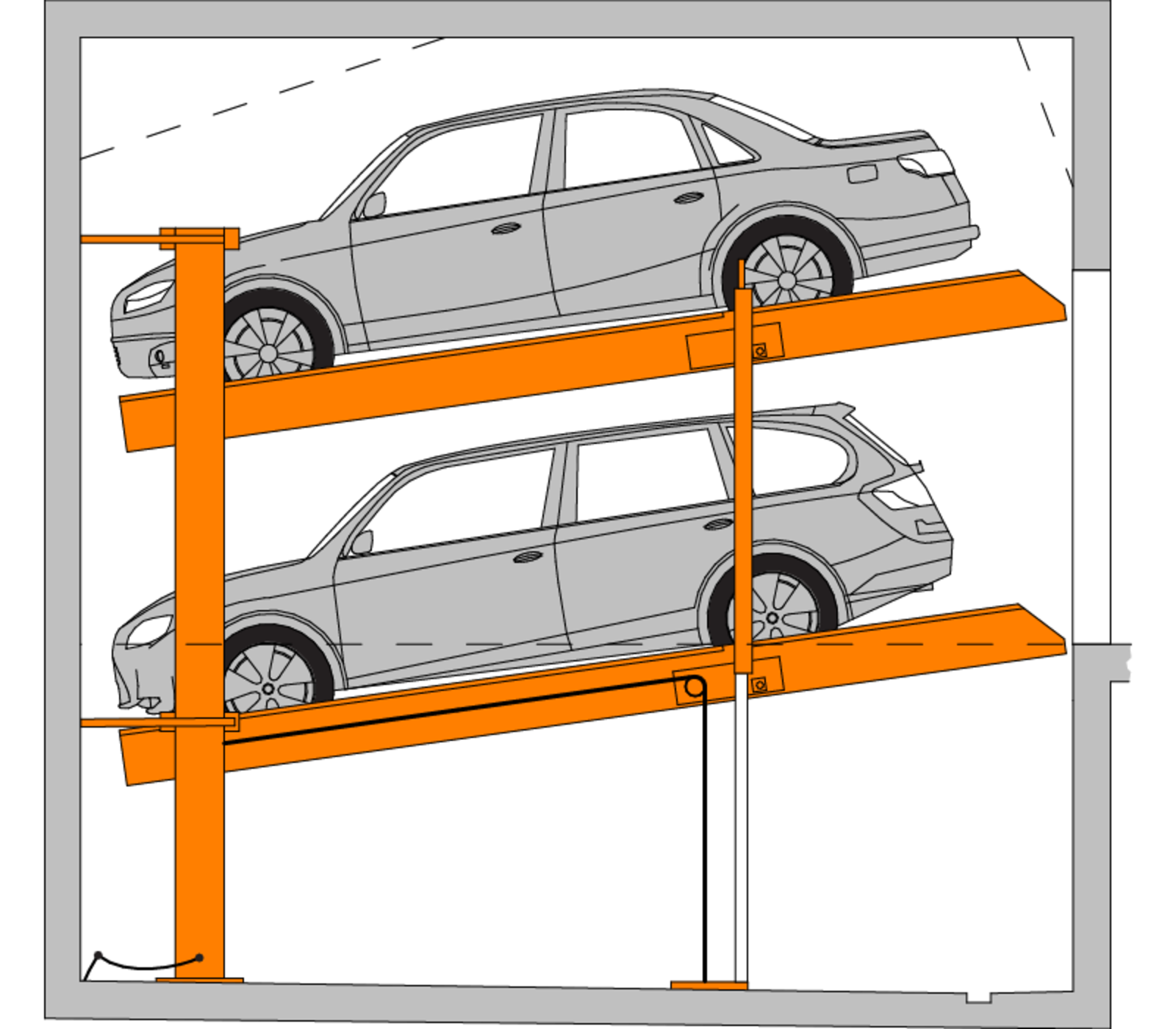 Parking lot clipart underground parking. Multibase i car stacker