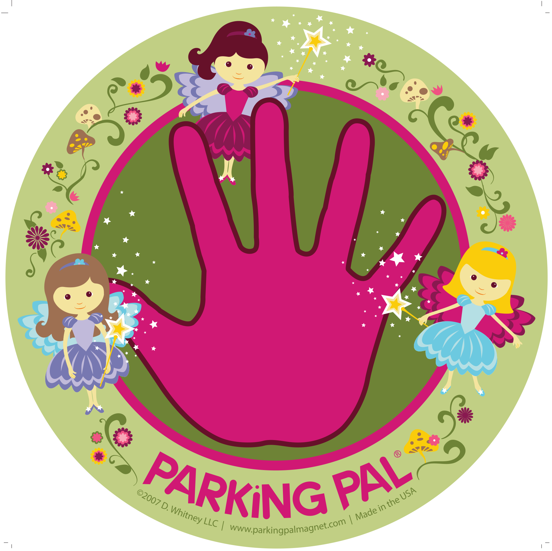 Parking lot clipart parking place. Fairy pal car magnet