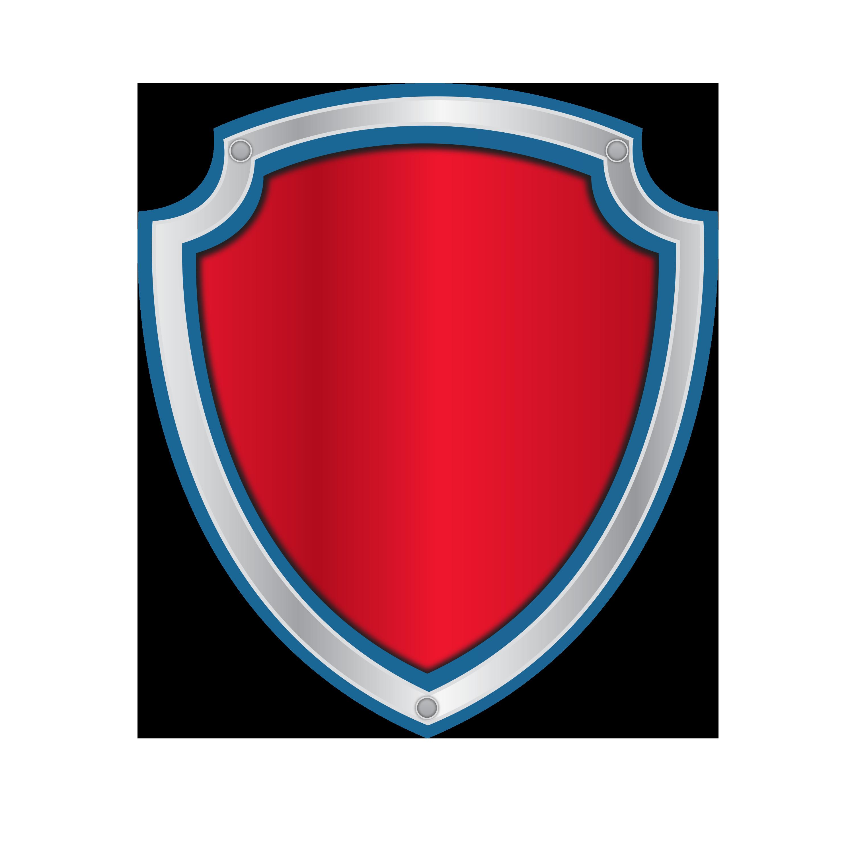 Clipart shield frame. Kit brasao patrulha canina