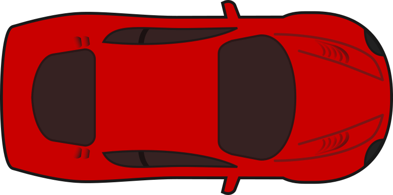Clipart cars eye. Red racing car top