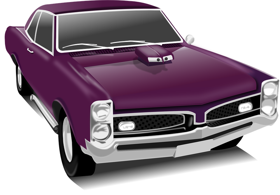 Classical antique car pencil. Clipart cars transporter
