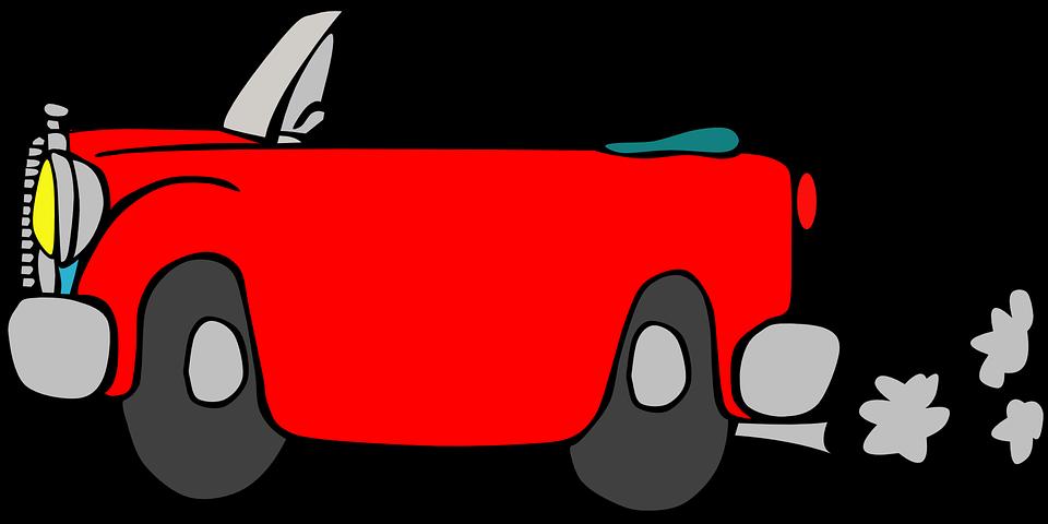Vehicle car driving pencil. Clipart cars smoke