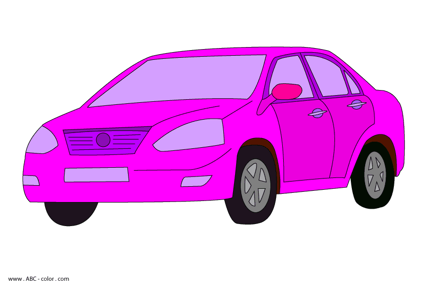 Car raster picturet picture. Clipart cars pink