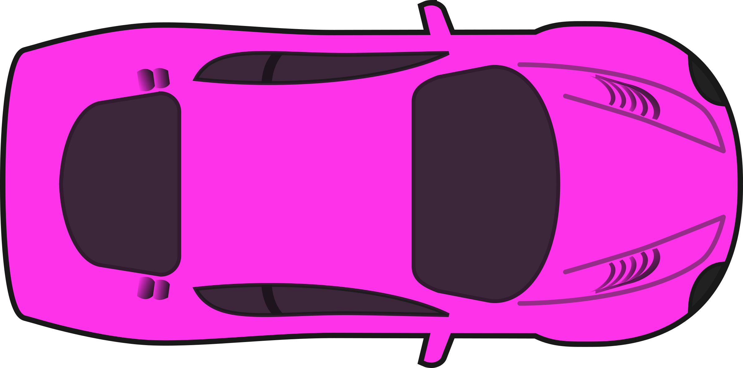 Pink car top view. Race clipart auto racing