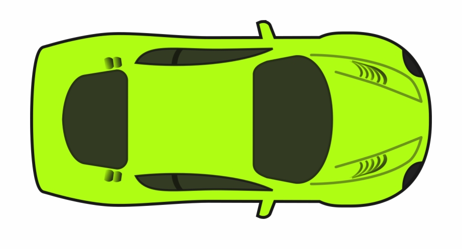 Bright green racing car. Clipart cars plan