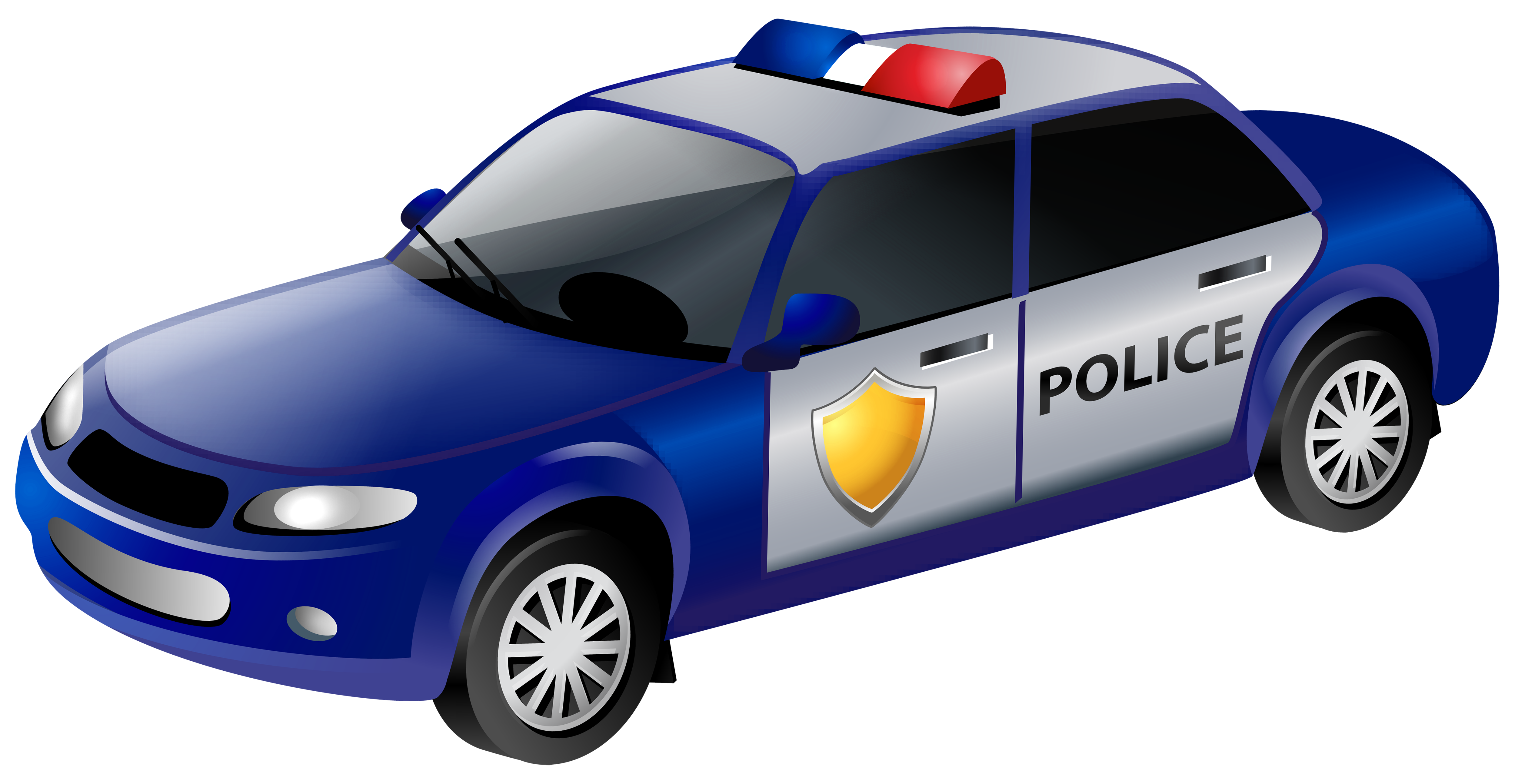 Police car clip png. Clipart cars transparent background