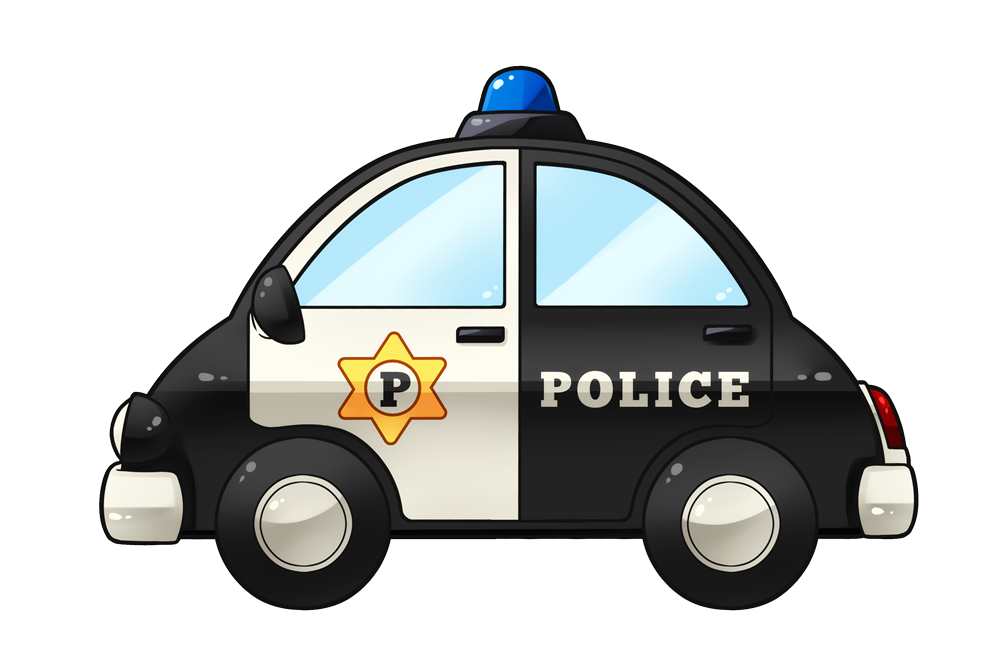 Cartoon car free download. Clipart cars police officer