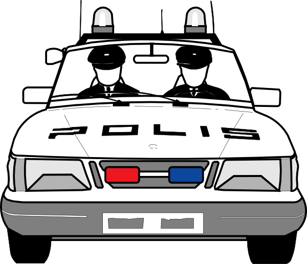 Clipart cars front. Police car clip art