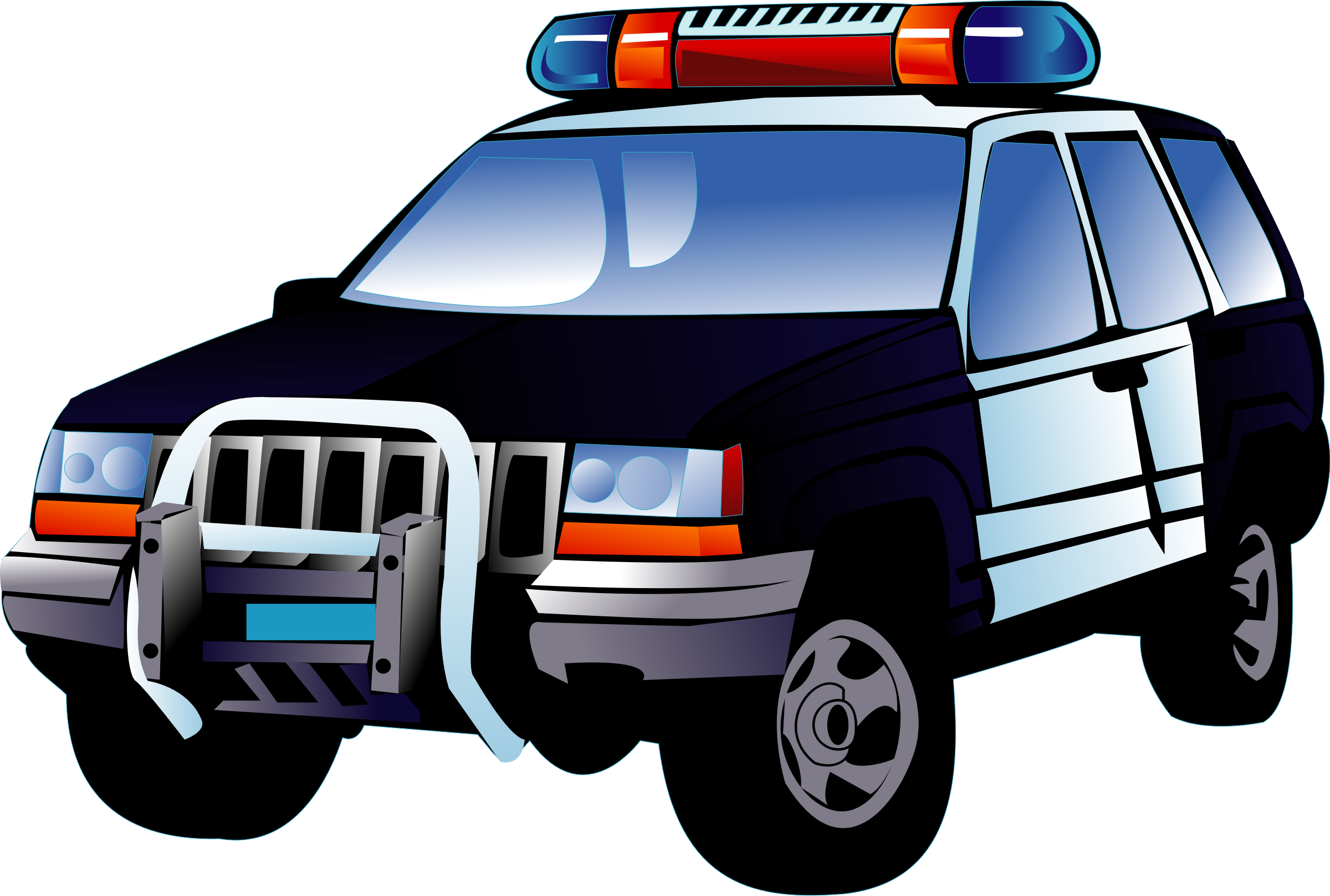 Police car big image. Clipart cars delivery