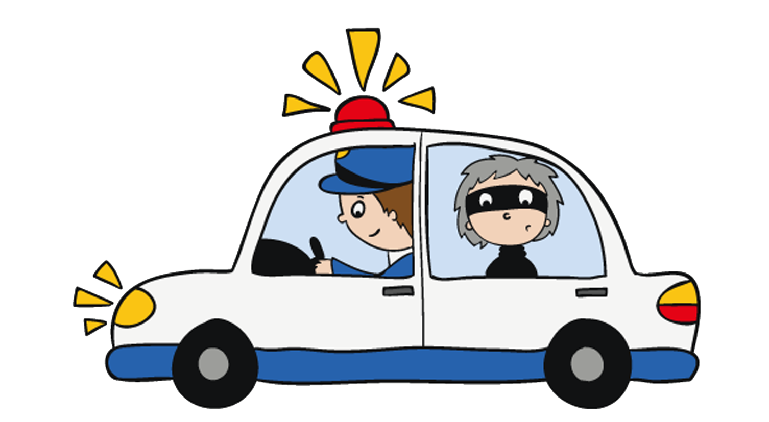 Clipart cars police officer. Theft siren open car