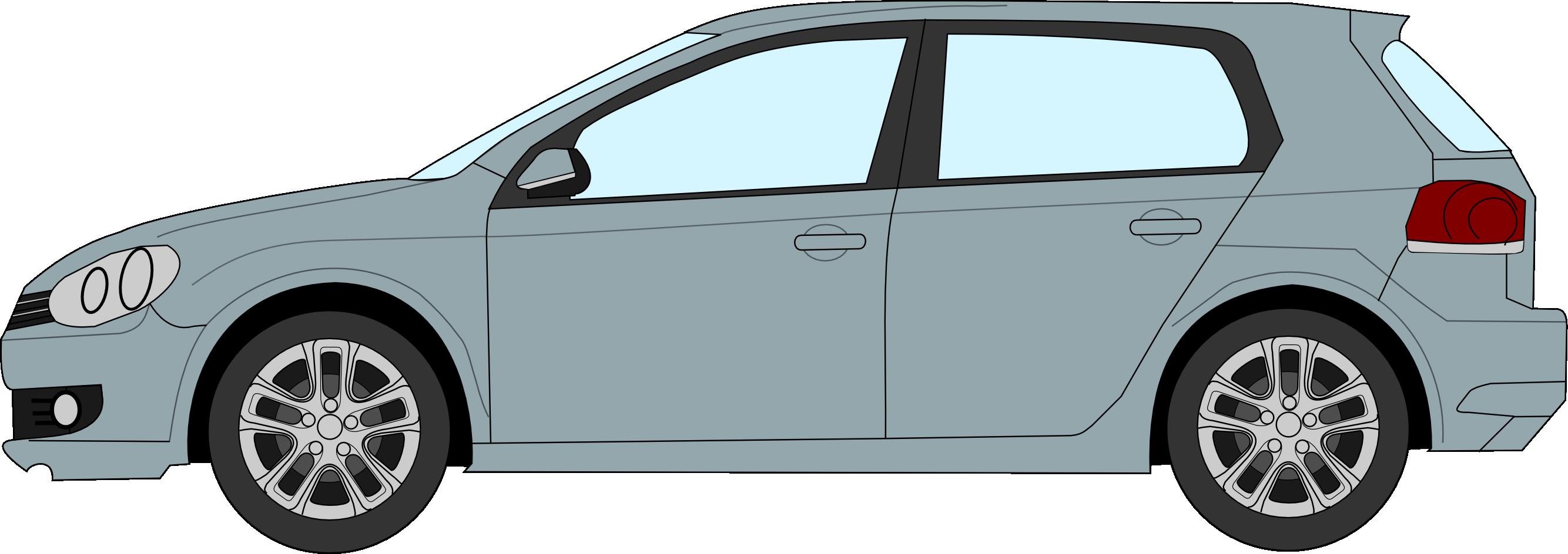 Car profile at getdrawings. Golfer clipart pencil drawing