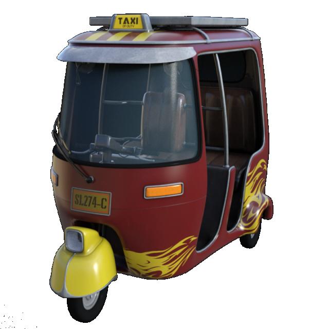 Classic rickshaw vehicle transportation. Clipart cars psd