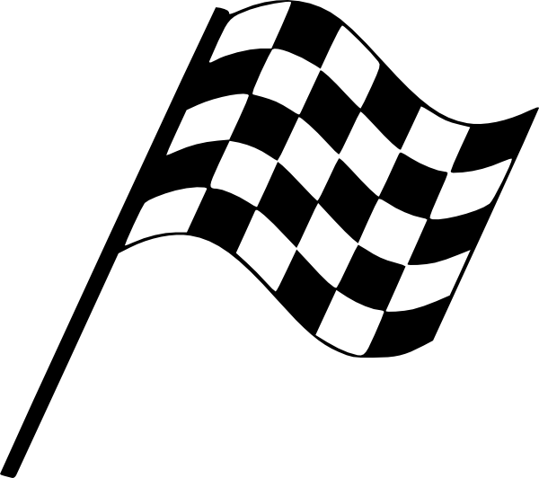 Racing flag flowing rght. Track clipart tire mark