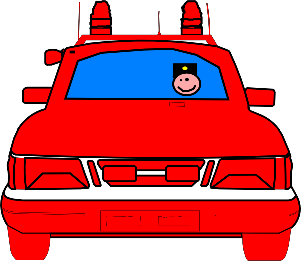 Police car clip art. Engine clipart vector