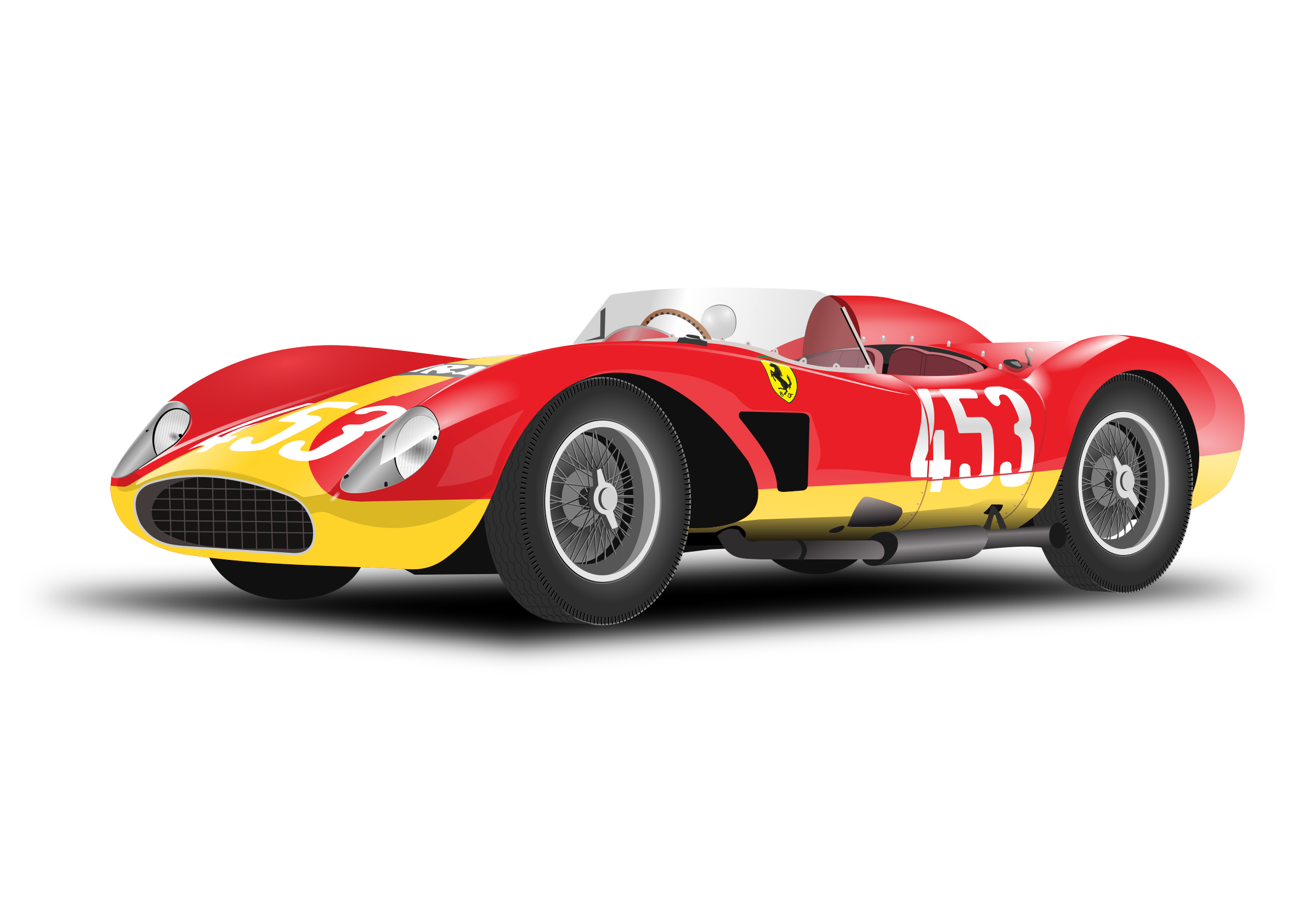 Red car no background. Race clipart end race