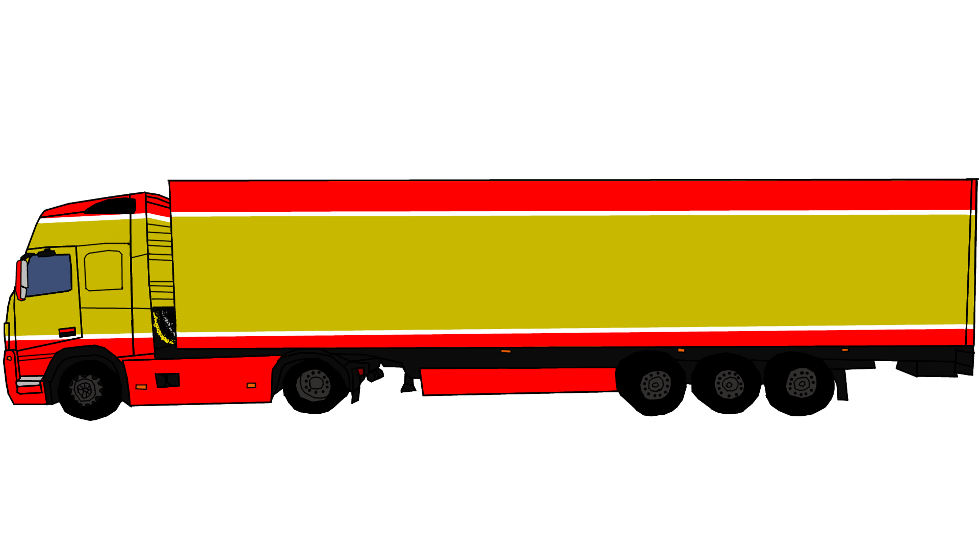 Peterbilt at getdrawings com. Clipart road side view