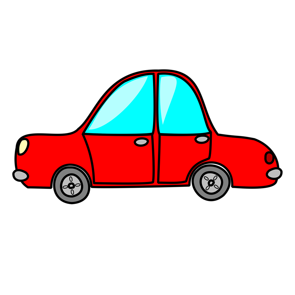 Square clipart car. Free stock photo illustration