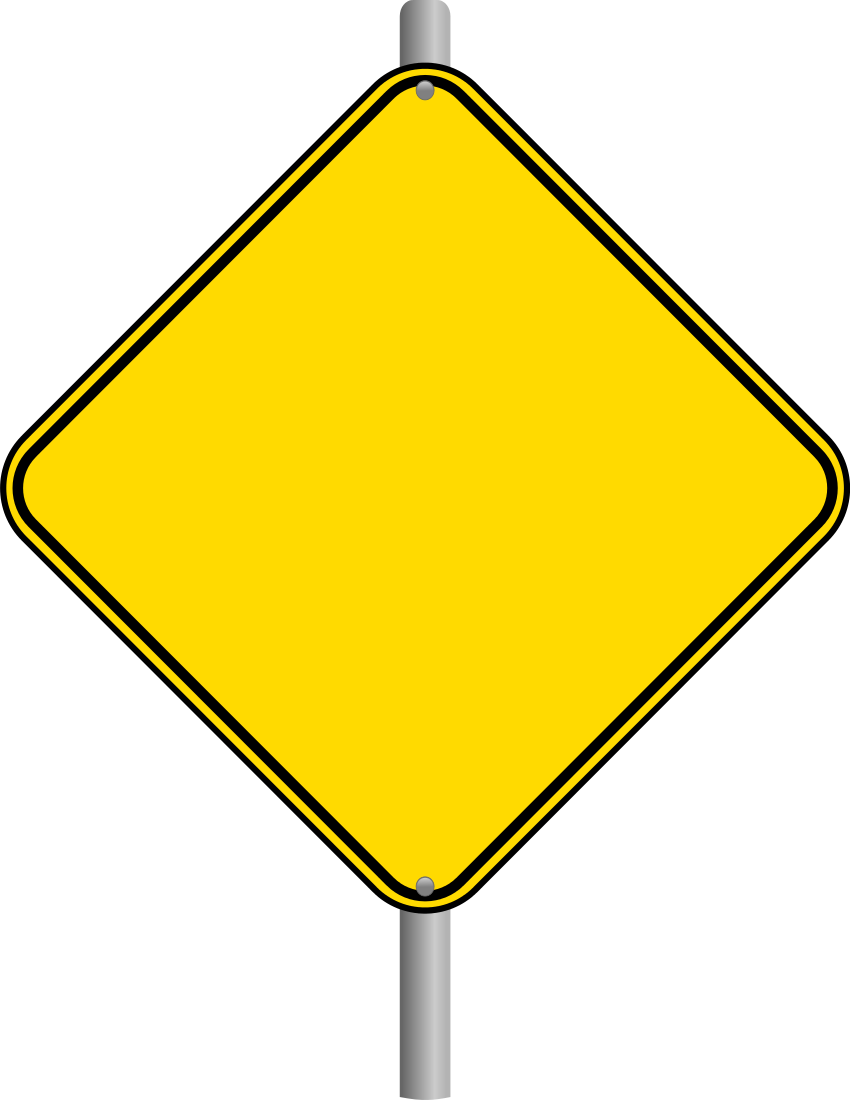 Driver clipart drowsy driving. Blank street signs warning