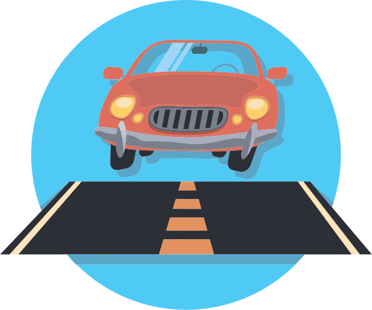 collection of car. Clipart cars road