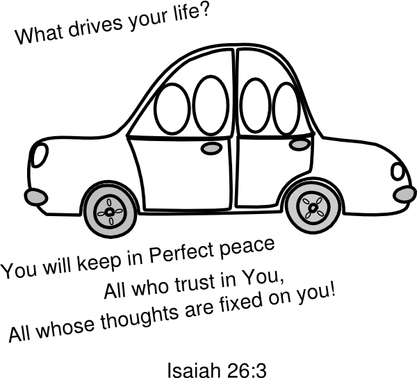 Car sunday school clip. Driving clipart outline