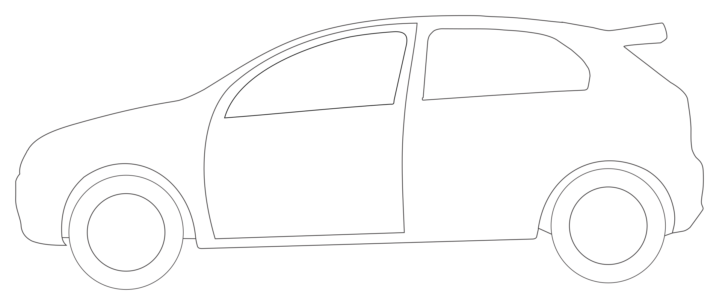 . Clipart car shape