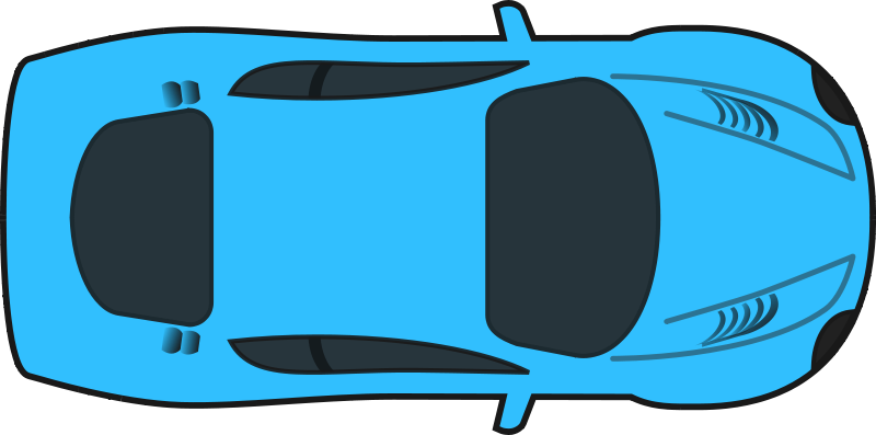 Free clip art blue. Clipart cars simple