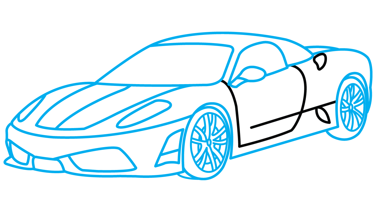 Clipart cars easy. Car drawing simple at