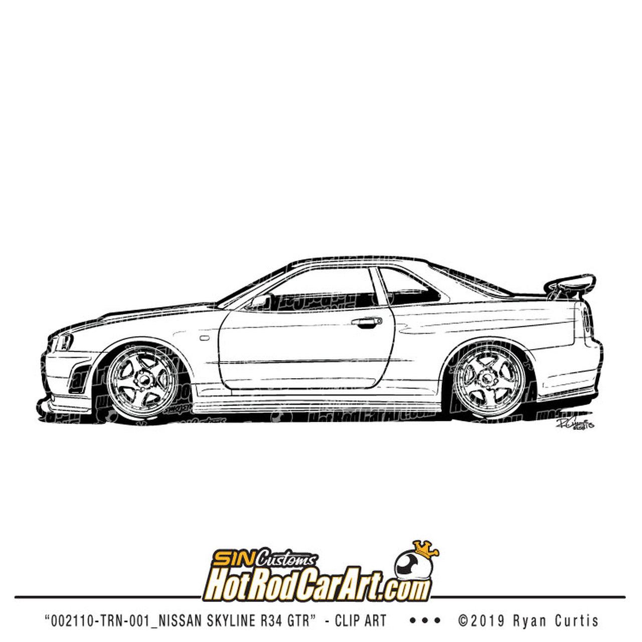 Clipart cars skyline.  trn nissan r