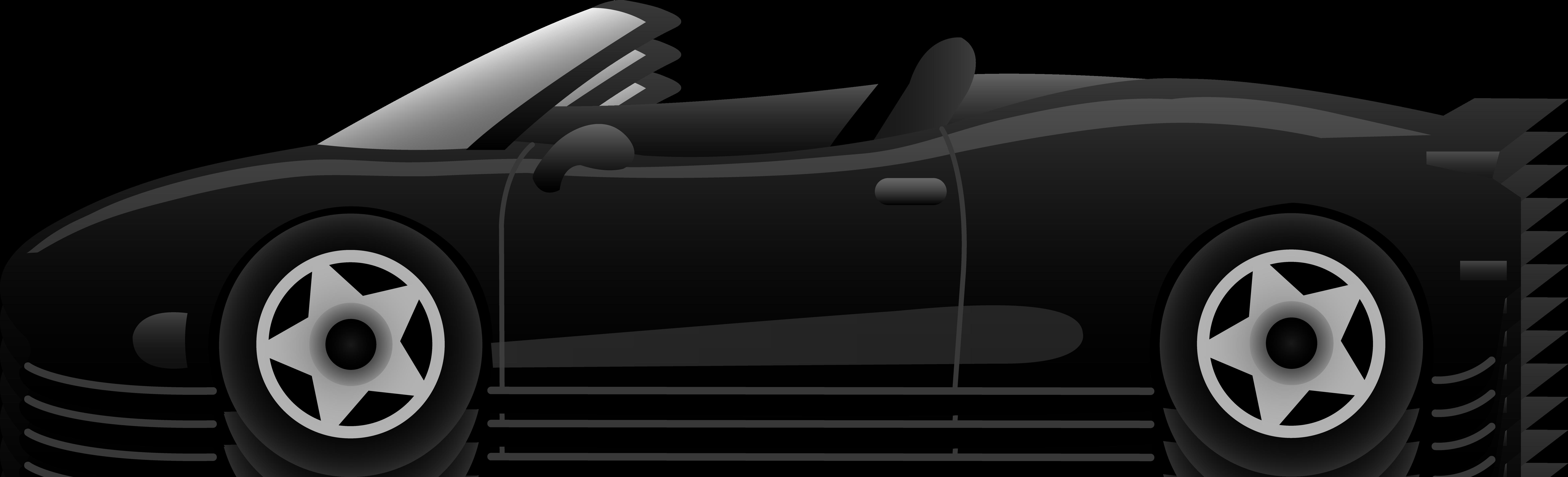 Black sports panda free. Clipart car sport