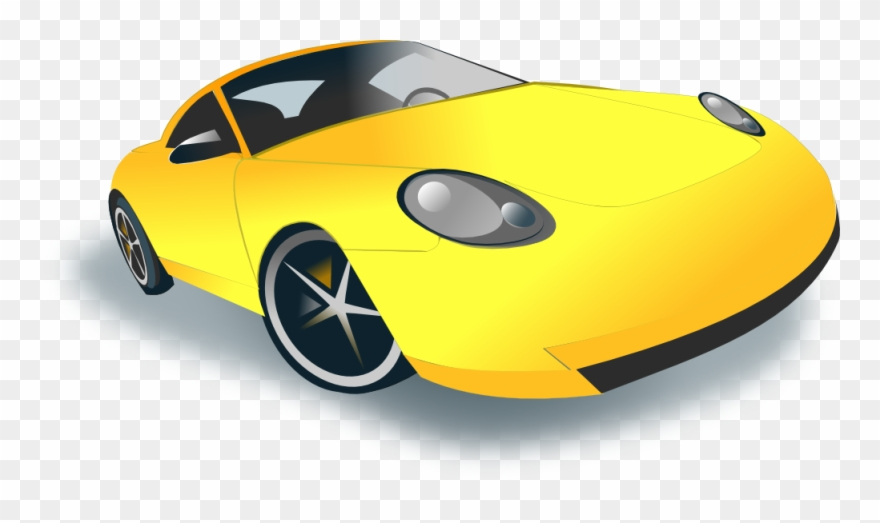 Clipart cars yellow. Car sport clip art