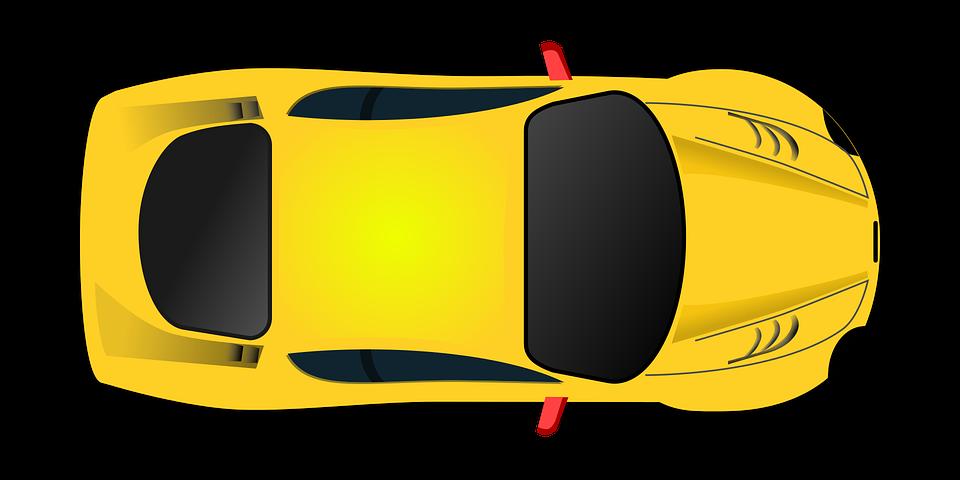 Clipart car sport. Sports clip art yellow
