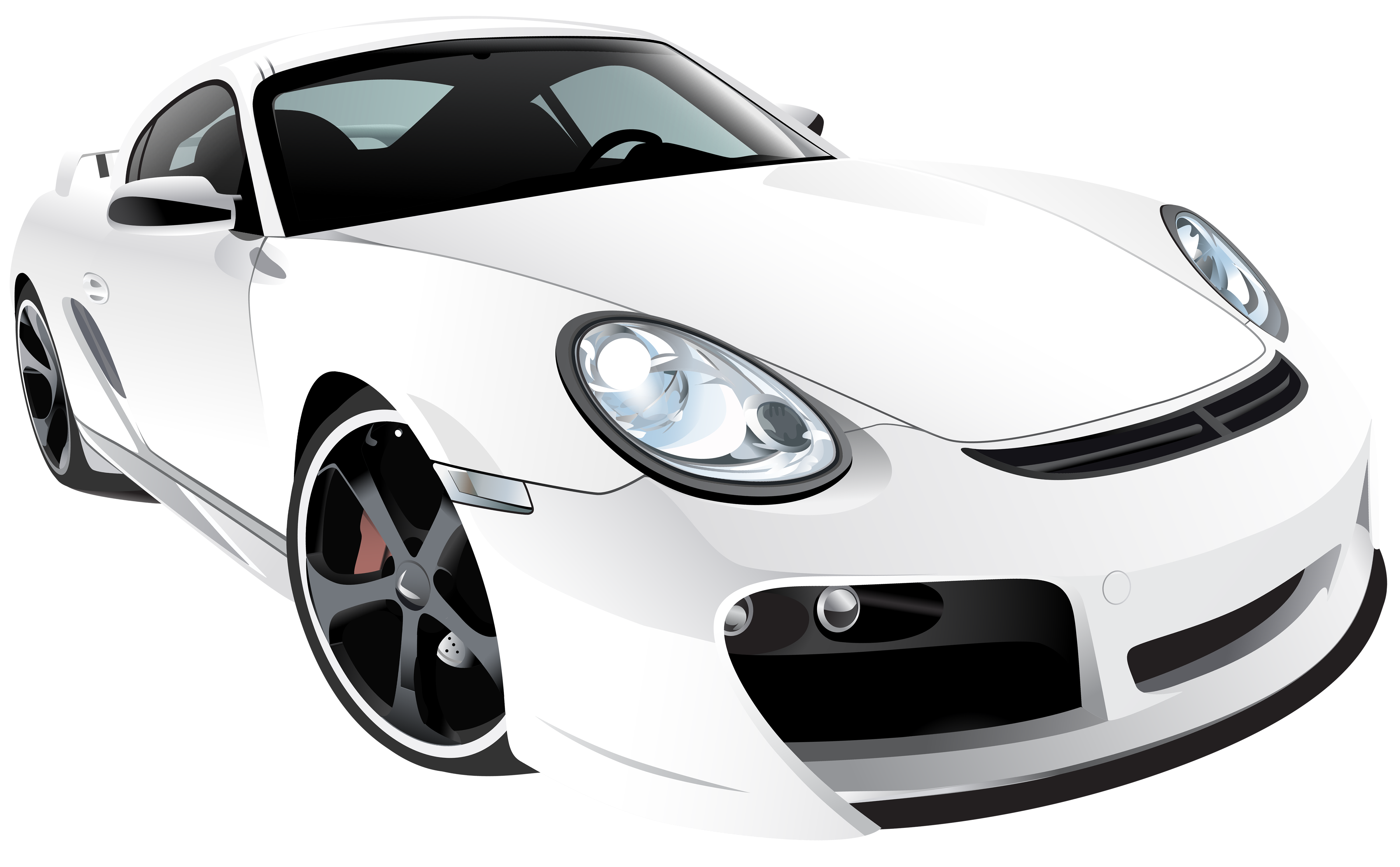 White sport car png. Clipart cars house