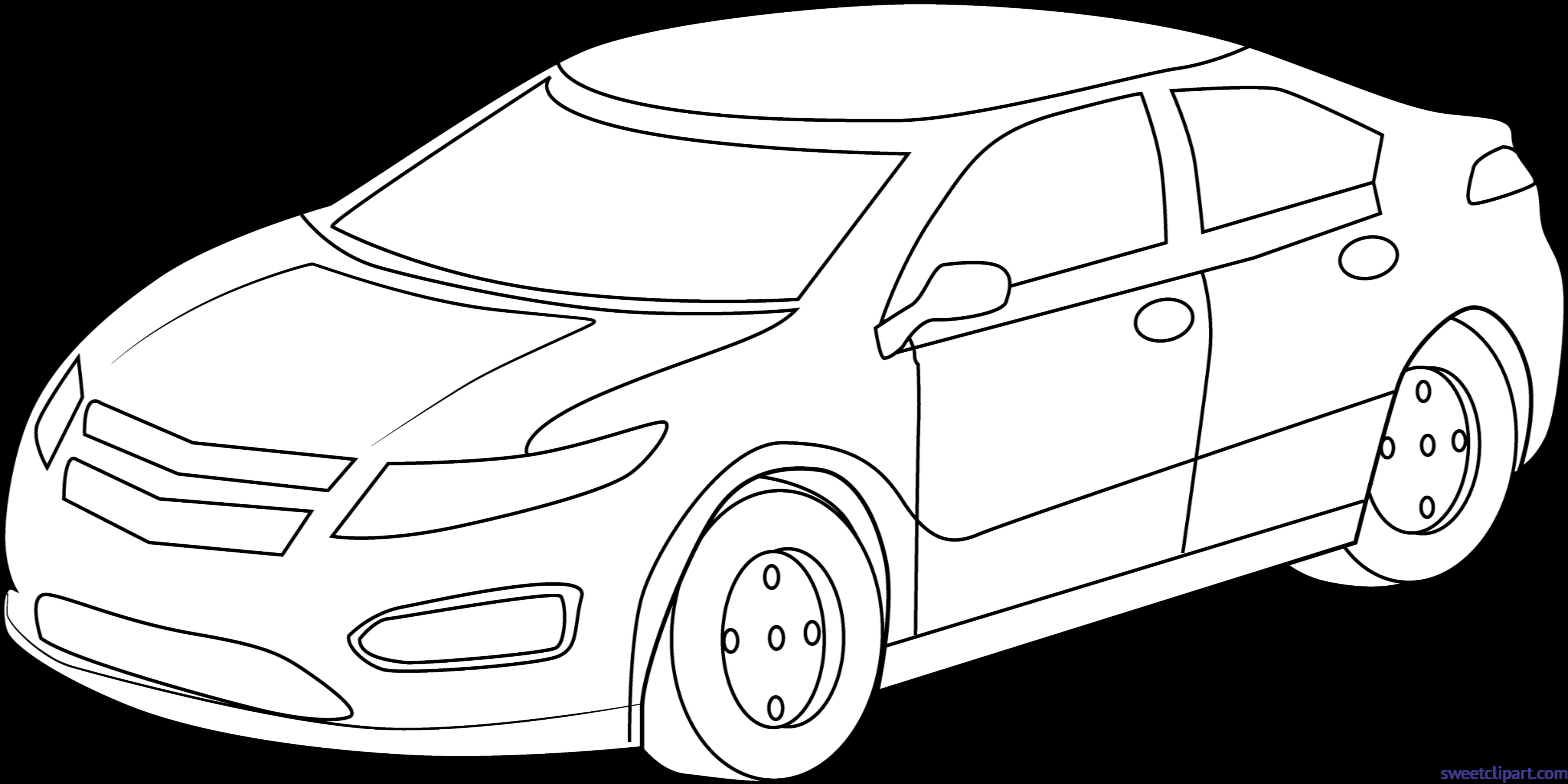 Clipart sports line art. Car lineart clip sweet
