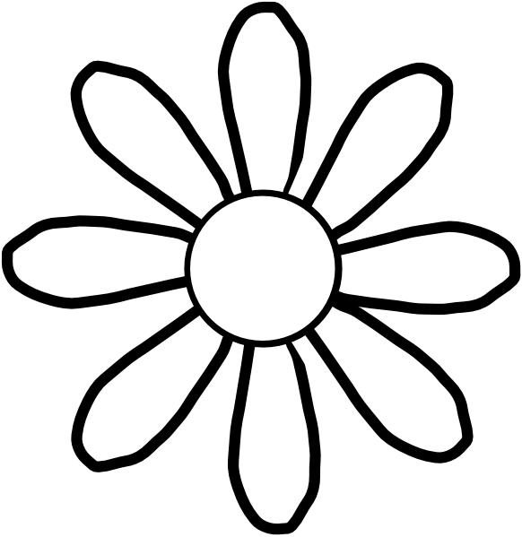 Black and white flower png. Clipart spring flowers panda