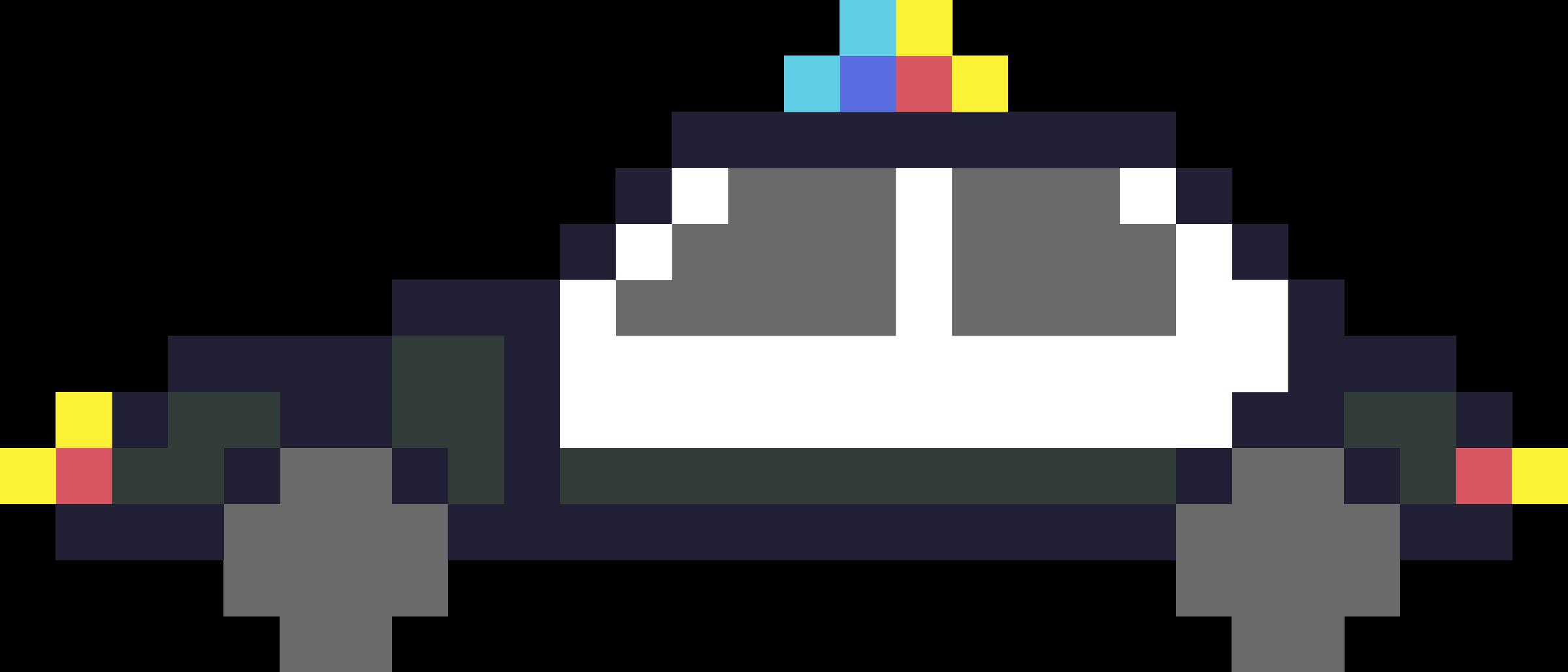 Pixel art police big. Clipart pumpkin car