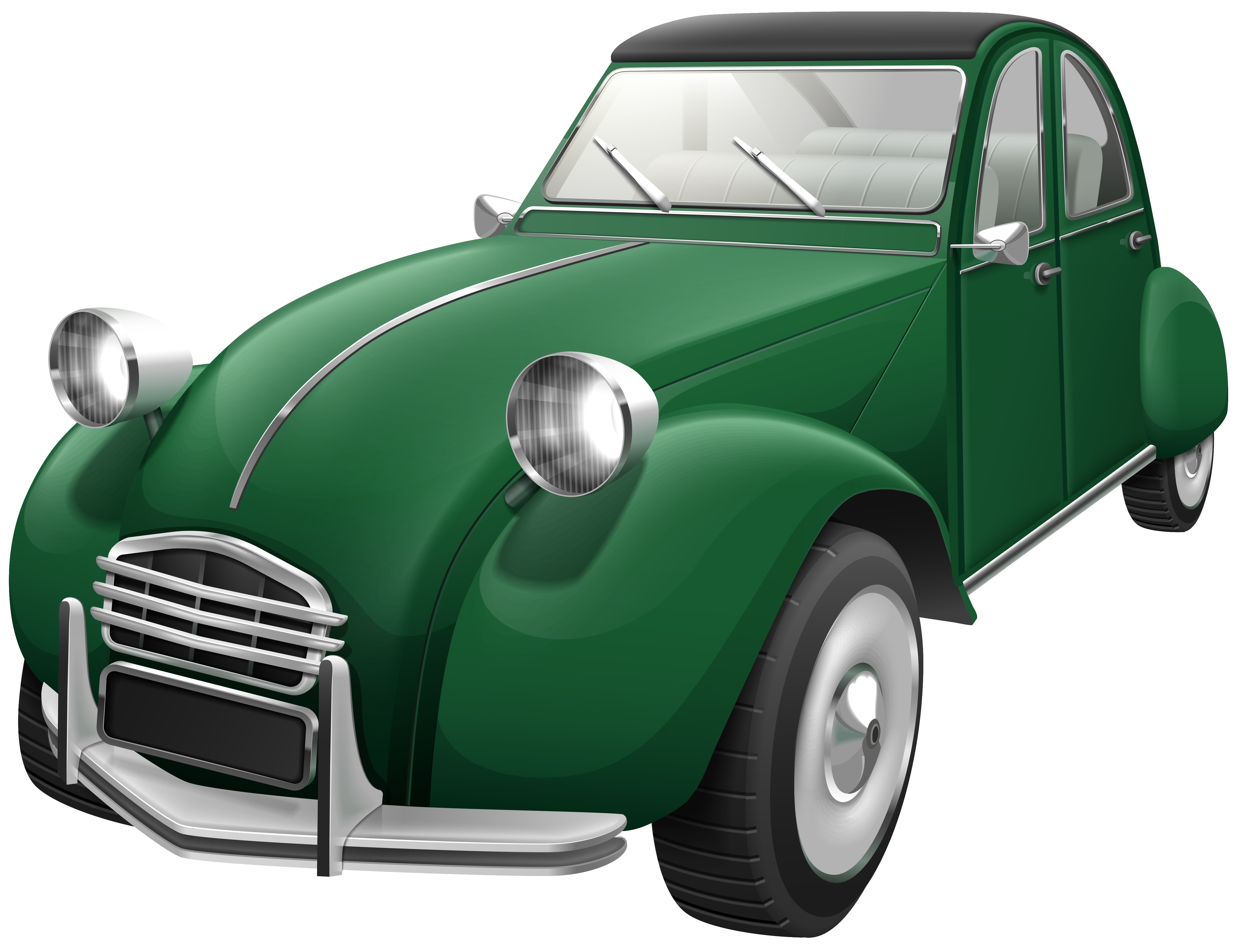 Retro clipart fishing. Green car png clip