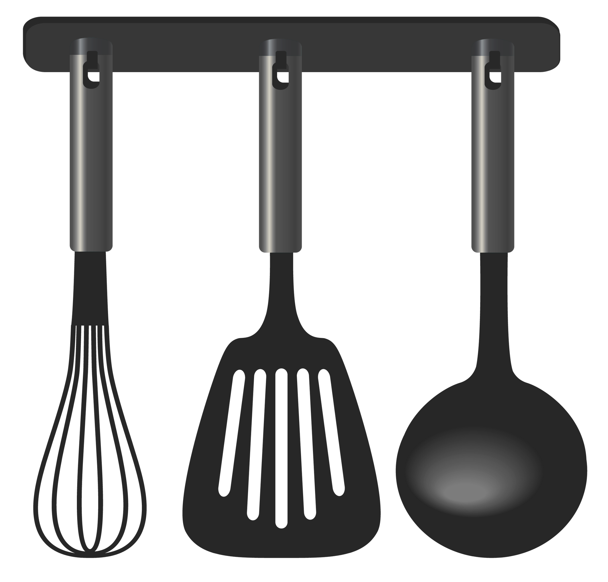 Black tool set png. Clipart kitchen kichen