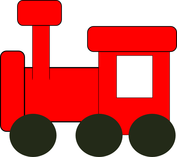 Front grill . Engine clipart red train