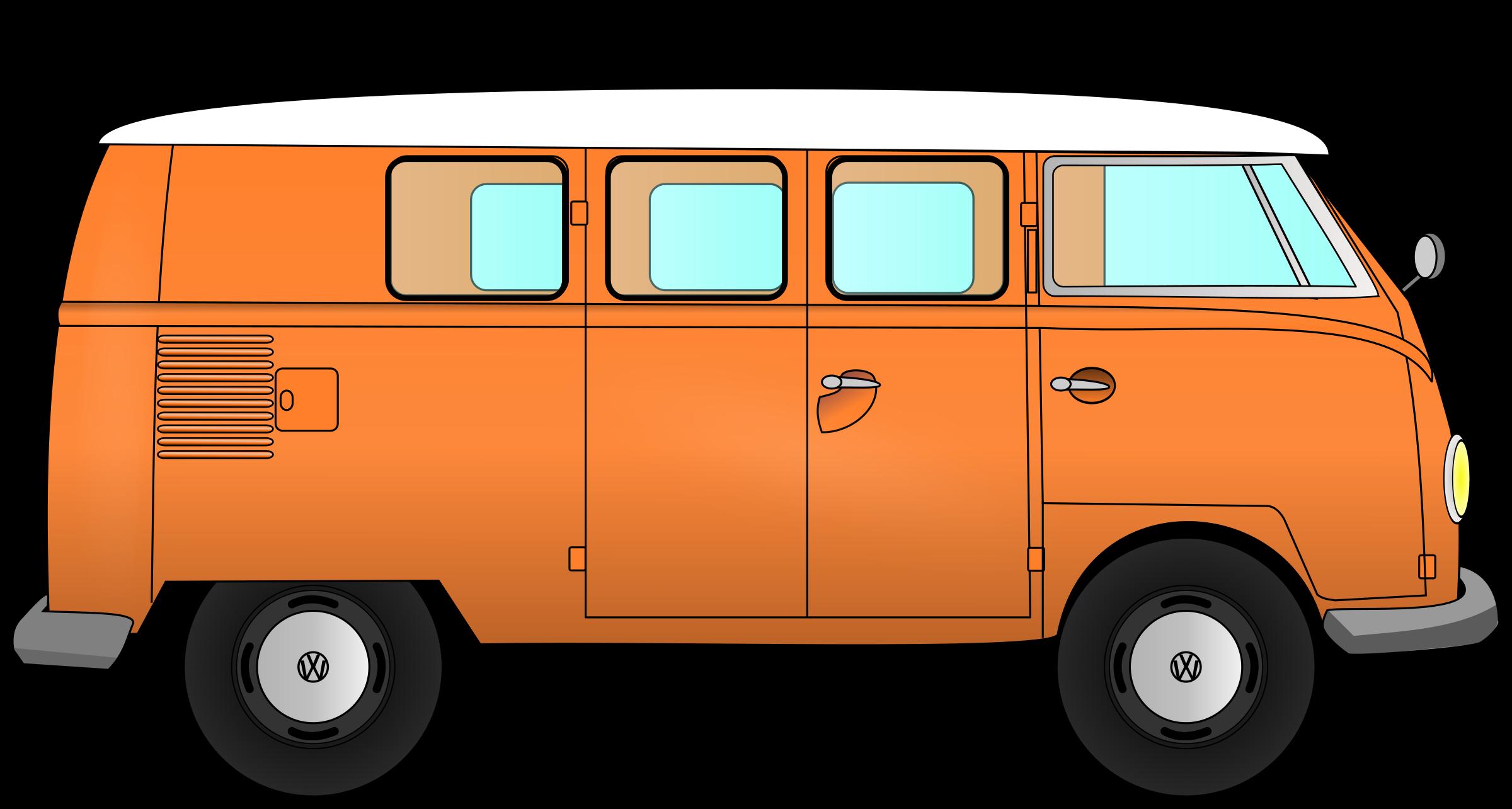 Vw combi big image. Minivan clipart small bus
