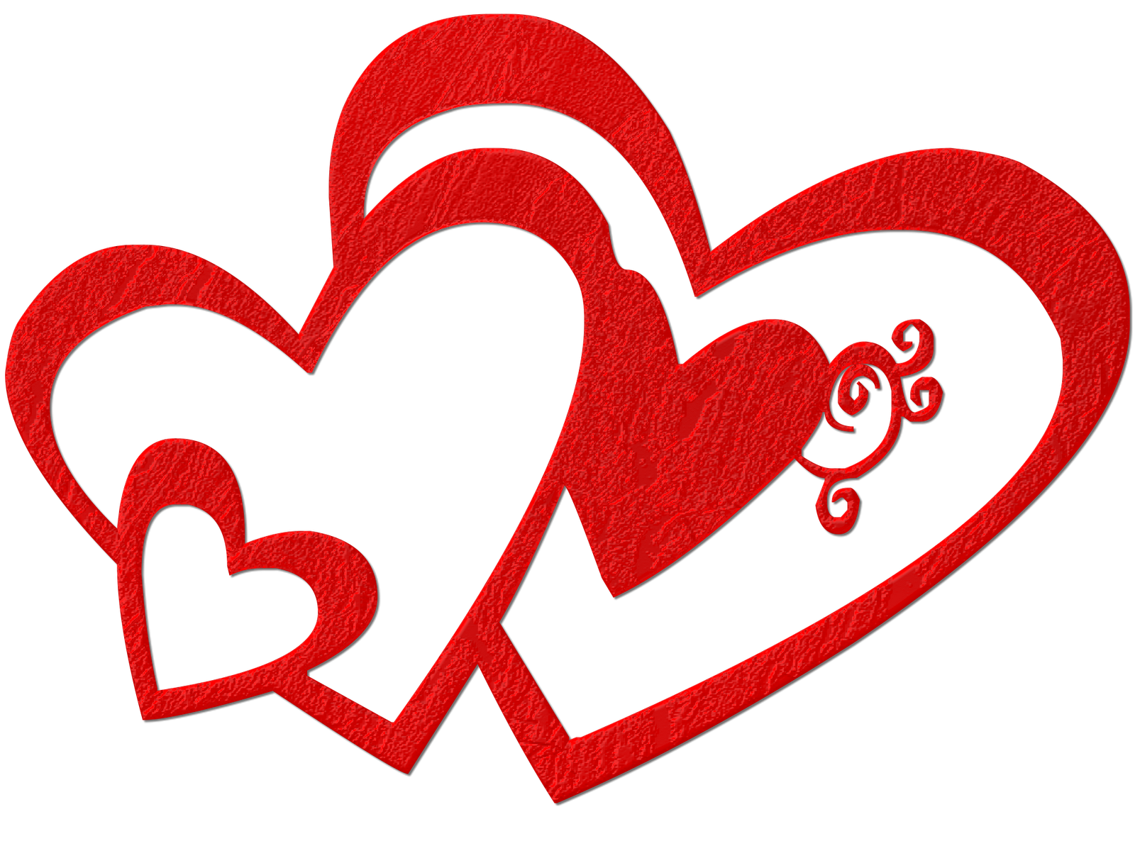 Double hearts valentines day. Valentine clipart cookie