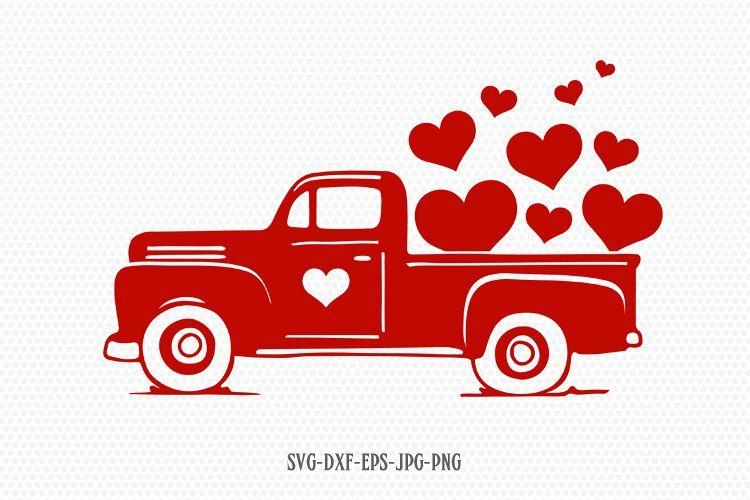 Valentine clipart truck. Valentines vintage svg day