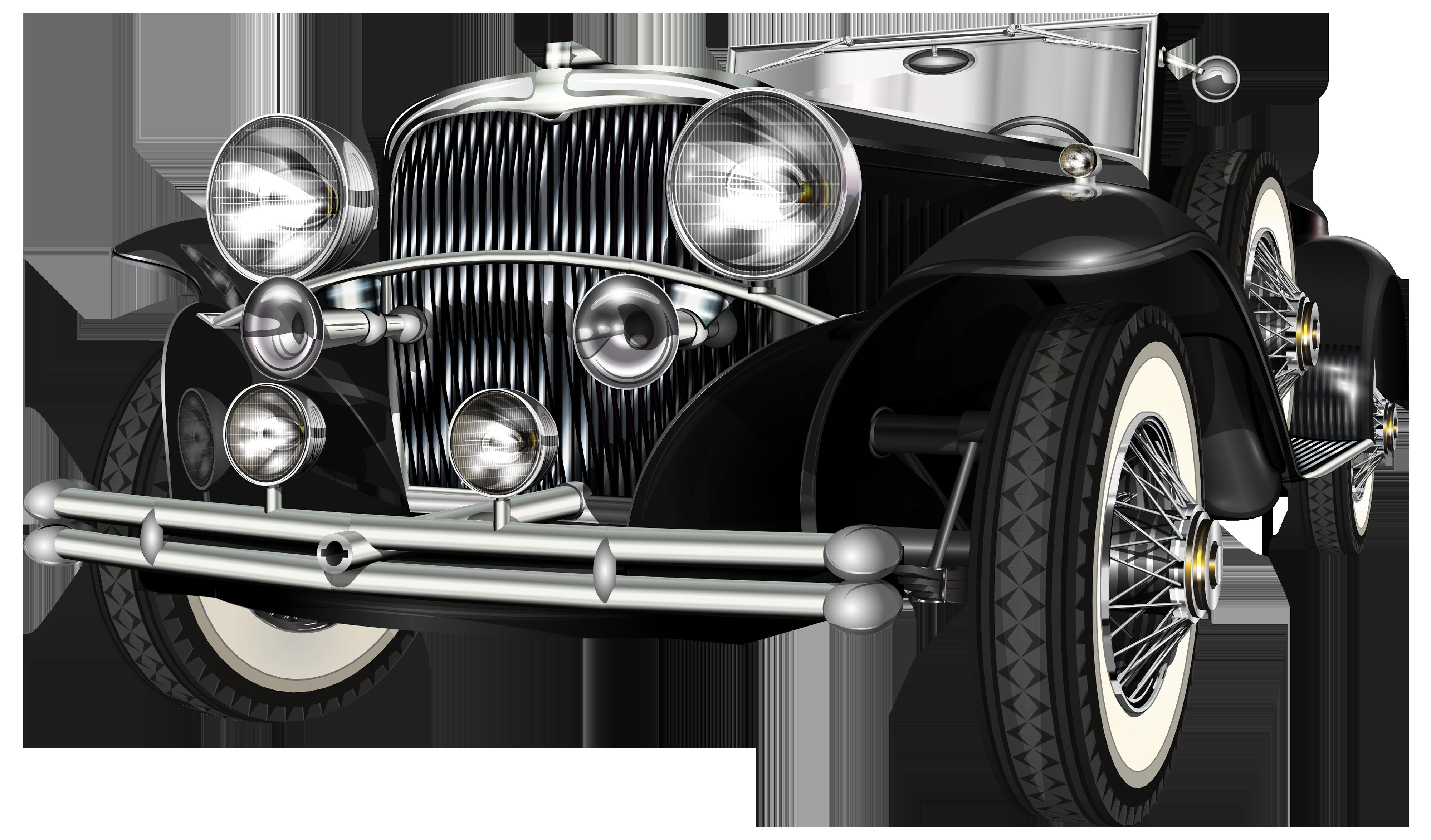 Clipart car vintage. Black retro png clip
