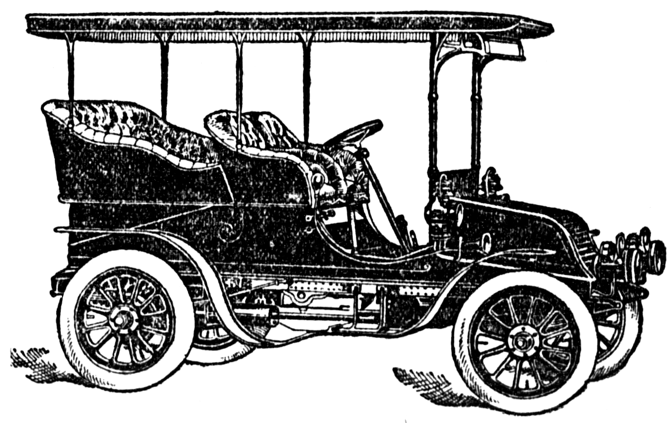 Land clipart black and white. Vintage snips clips car