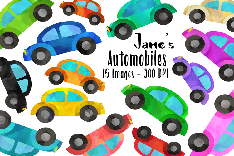 . Clipart cars watercolor