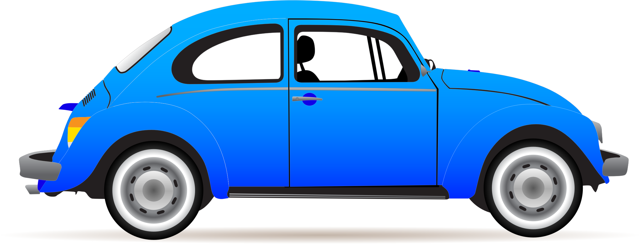 Clipart cars profile. Blue beetle painted rocks